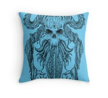 Beast Totem-Blue Throw Pillow