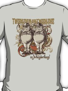 Tweedledum & Tweedledee Carnivale Style - Gold Version T-Shirt