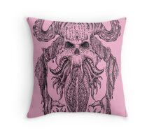 Beast Totem-Pink Throw Pillow