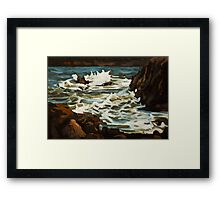 Choppy Sea Near Elberry Cove. Framed Print