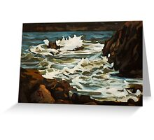 Choppy Sea Near Elberry Cove. Greeting Card