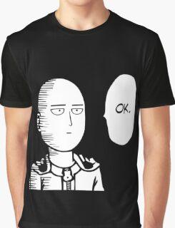 One Punch Man Okay  Saitama Logo Cosplay Japan Anime T Shirt Graphic T-Shirt