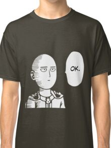 One Punch Man Okay  Saitama Logo Cosplay Japan Anime T Shirt Classic T-Shirt