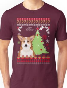 Corgi Ugly Christmas Sweater Unisex T-Shirt