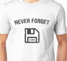 Never Forget: Floppy Disks Unisex T-Shirt