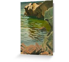 Original Contemporary Oil Painting  Greeting Card