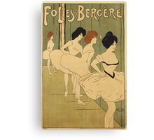 Maurice Biais - Maurice Biais - Folies-Bergere Poster. Dancer painting: dance, ballet, dancing woman, ballerina, tutu, femine, women, dancer, disco, dancers, girls Canvas Print