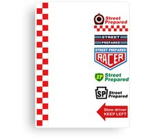 Street Prepared Racing Team replica Canvas Print