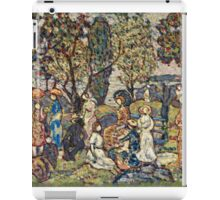 Maurice Brazil Prendergast - Autumn Festival. People portrait: party, woman and man, people, family, female and male, peasants, crowd, romance, women and men, city, home society iPad Case/Skin