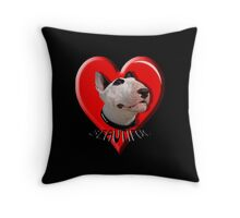 LOVE for my Bull Terrier Throw Pillow