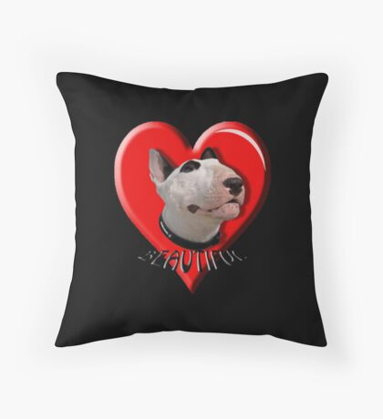 LOVE for my Bull Terrier Throw Pillow