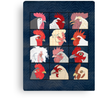 Rooster Face Canvas Print