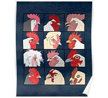 Rooster Face Poster