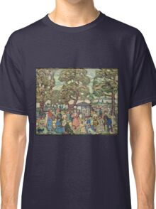 Maurice Brazil Prendergast - Landscape With Figures No. 2. People portrait: party, woman and man, people, family, female and male, peasants, crowd, romance, women and men, city, home society Classic T-Shirt