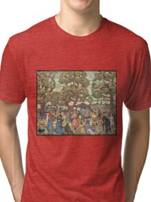 Maurice Brazil Prendergast - Landscape With Figures No. 2. People portrait: party, woman and man, people, family, female and male, peasants, crowd, romance, women and men, city, home society Tri-blend T-Shirt