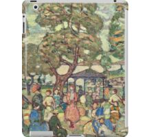 Maurice Brazil Prendergast - Landscape With Figures No. 2. People portrait: party, woman and man, people, family, female and male, peasants, crowd, romance, women and men, city, home society iPad Case/Skin