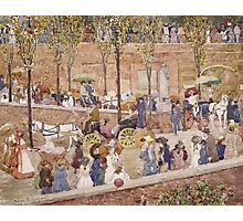 Maurice Brazil Prendergast - Monte Pincio, Rome. Street landscape: city view, streets, building, houses, prospects, cityscape, architecture, roads, travel landmarks, panorama garden, buildings Photographic Print