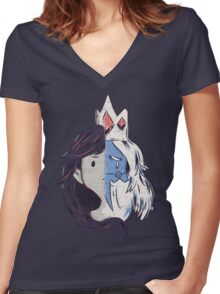 Marcy and Simon V.2 Women's Fitted V-Neck T-Shirt
