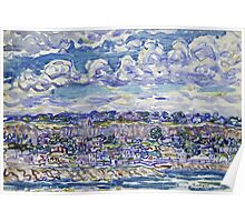 Maurice Brazil Prendergast - St. Malo. Urban landscape: city view, streets, building, house, trees, cityscape, architecture, construction, travel landmarks, panorama garden, buildings Poster