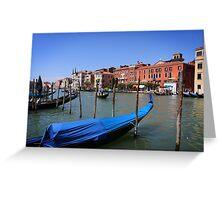 Gondolas on Gran Canal, Venice Greeting Card