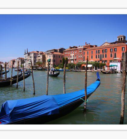 Gondolas on Gran Canal, Venice Sticker