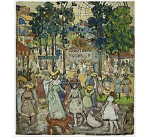 Maurice Brazil Prendergast - The Amusement Park. People portrait: party, woman and man, people, family, female and male, peasants, crowd, romance, women and men, city, home society Photographic Print
