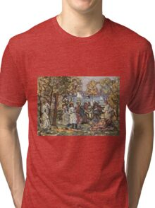 Maurice Brazil Prendergast - Waterside Park Scene. Garden landscape: trees and flowers, blossom, nature view, botanical park, floral flora, wonderful flowers, plants, cute plant, garden, flower Tri-blend T-Shirt