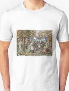 Maurice Brazil Prendergast - Waterside Park Scene. Garden landscape: trees and flowers, blossom, nature view, botanical park, floral flora, wonderful flowers, plants, cute plant, garden, flower Unisex T-Shirt