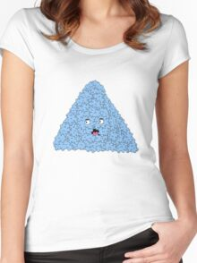 bubble pyramid Women's Fitted Scoop T-Shirt