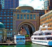 Rowes Wharf.....Boston Harbor by Nancy Richard