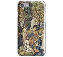 Maurice Brazil Prendergast - Autumn Festival. People portrait: party, woman and man, people, family, female and male, peasants, crowd, romance, women and men, city, home society iPhone Case/Skin