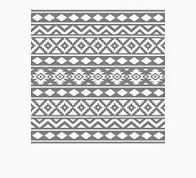Aztec Essence Ptn III White on Grey Unisex T-Shirt