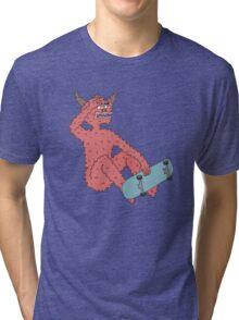 skate or hell! Tri-blend T-Shirt