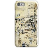 Maurice Brazil Prendergast - European Street Scene. Street landscape: city view, streets, building, houses, prospects, cityscape, architecture, roads, travel landmarks, panorama garden, buildings iPhone Case/Skin