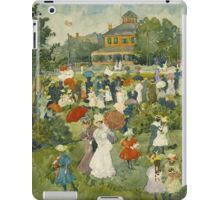 Maurice Brazil Prendergast - Franklin Park, Boston. People portrait: party, woman and man, people, family, female and male, peasants, crowd, romance, women and men, city,  Park iPad Case/Skin