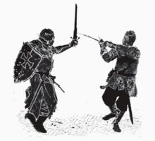 For victory wear a t-shirt: Medieval knights fight! by patjila