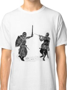 For victory wear a t-shirt: Medieval knights fight! Classic T-Shirt