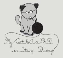 My Cat Has A Ph.D in String Theory by MenotteesRB