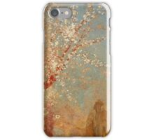 Odilon Redon - Figure Under A Blossoming Tree 1904. Garden landscape: garden view, trees and flowers, blossom, woman, dream, floral flora, wonderful flowers, think, meditation, relaxation, rest iPhone Case/Skin