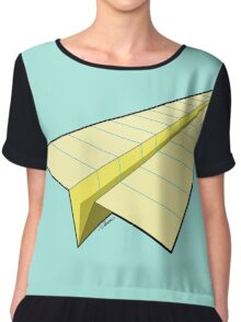 Paper Airplane 10 Chiffon Top