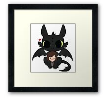 My cute Chibbi Dragon  Framed Print