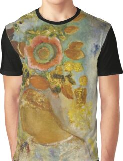 Odilon Redon - Two Young Girls Among Flowers 1912. Garden landscape: garden view, trees and flowers, blossom, Girls,  Young,  Among Flowers, wonderful flowers, dream, think, garden, flower Graphic T-Shirt