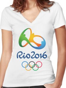 Olympics in Rio 2016 Best Logo Women's Fitted V-Neck T-Shirt