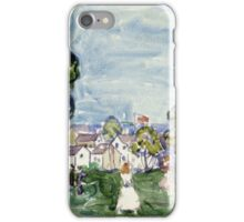 Maurice Brazil Prendergast - Summer Day, New England. Garden landscape: garden view, trees and flowers, blossom, nature, botanical park,  Day, wonderful flowers, Summer, cute plant, garden, England iPhone Case/Skin