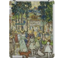 Maurice Brazil Prendergast - The Amusement Park. People portrait: party, woman and man, people, family, female and male, peasants, crowd, romance, women and men, city, home society iPad Case/Skin