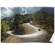 Curvy Mountain Roads Poster