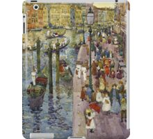 Maurice Brazil Prendergast - The Grand Canal, Venice. Urban landscape: city view, streets,  Venice, house, trees, cityscape, architecture, construction, travel landmarks, panorama garden, buildings iPad Case/Skin