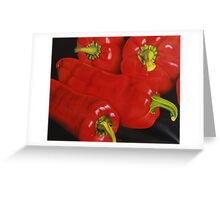 Group of Red Peppers Greeting Card