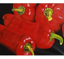 Group of Red Peppers Photographic Print