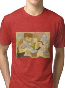Paul Klee - True Also For Plants. Abstract painting: abstract art, geometric, expressionism, composition, lines, forms, creative fusion, spot, shape, illusion, fantasy future Tri-blend T-Shirt